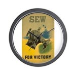 Sew For Victory - War Poster Wall Clock