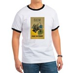 Sew For Victory - War Poster Ringer T