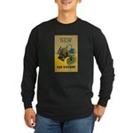Sew For Victory - War Poster Long Sleeve Dark T-Sh