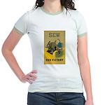 Sew For Victory - War Poster Jr. Ringer T-Shirt