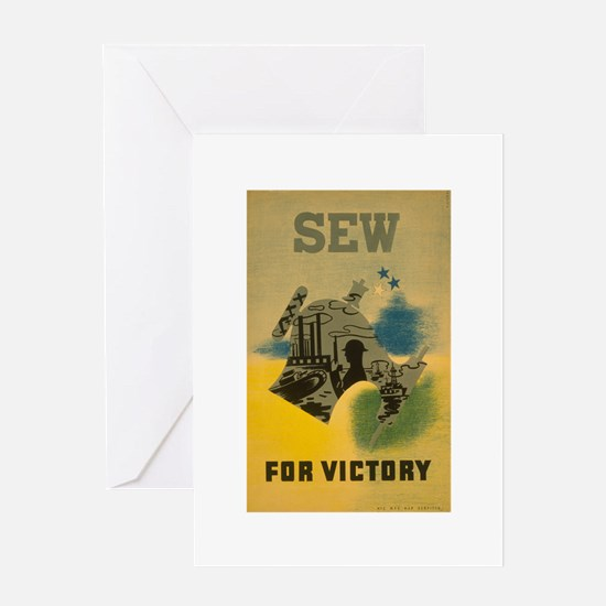 Sew For Victory - War Poster Greeting Card