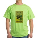 Sew For Victory - War Poster Green T-Shirt