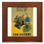 Sew For Victory - War Poster Framed Tile
