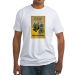 Sew For Victory - War Poster Fitted T-Shirt