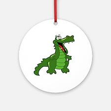 Happy Alligator Ornament (Round)