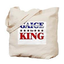 GAIGE for king Tote Bag