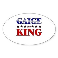 GAIGE for king Oval Decal