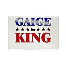 GAIGE for king Rectangle Magnet