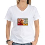 Knitting Fashion - Yarn Women's V-Neck T-Shirt