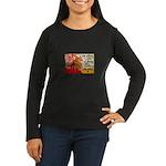 Knitting Fashion - Yarn Women's Long Sleeve Dark T