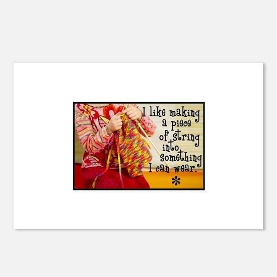 Knitting Fashion - Yarn Postcards (Package of 8)