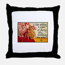 Knitting Fashion - Yarn Throw Pillow