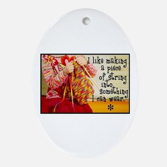 Knitting Fashion - Yarn Oval Ornament
