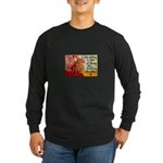 Knitting Fashion - Yarn Long Sleeve Dark T-Shirt