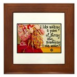 Knitting Fashion - Yarn Framed Tile
