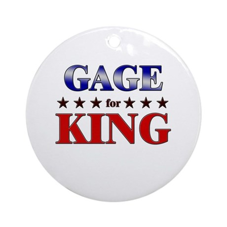 GAGE for king Ornament (Round)