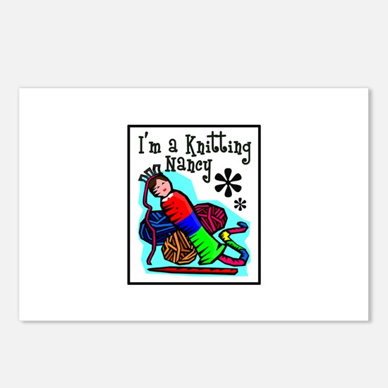 I'm a Knitting Nancy Postcards (Package of 8)