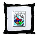 I'm a Knitting Nancy Throw Pillow