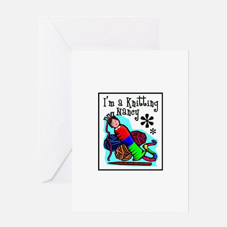 I'm a Knitting Nancy Greeting Card