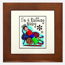 I'm a Knitting Nancy Framed Tile