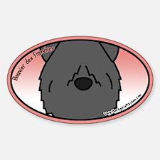 Anime Bouvier des Flandres Oval Decal