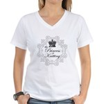 The Princess is Knitting Women's V-Neck T-Shirt