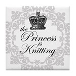 The Princess is Knitting Tile Coaster