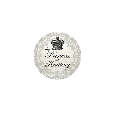 The Princess is Knitting Mini Button (100 pack)