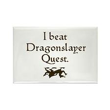 i beat dragonslayer quest Rectangle Magnet