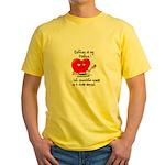 Knitting and Chocolate Yellow T-Shirt