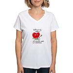 Knitting and Chocolate Women's V-Neck T-Shirt