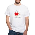 Knitting and Chocolate White T-Shirt