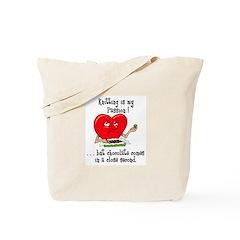 Knitting and Chocolate Tote Bag