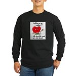 Knitting and Chocolate Long Sleeve Dark T-Shirt
