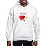 Knitting and Chocolate Hooded Sweatshirt