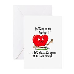 Knitting and Chocolate Greeting Cards (Pk of 10)