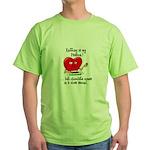 Knitting and Chocolate Green T-Shirt