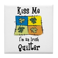 St. Patrick's Day - Irish Qui Tile Coaster