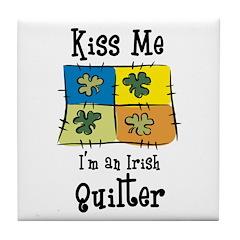 St. Patrick's Day - Irish Qui Tile Coaster