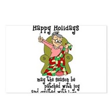 Happy Holidays - Quilter Postcards (Package of 8)