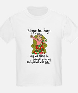 Happy Holidays - Quilter T-Shirt