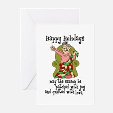 Happy Holidays - Quilter Greeting Cards (Pk of 10)