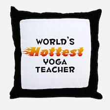 World's Hottest Yoga .. (B) Throw Pillow
