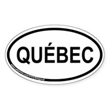 Québec Oval Decal