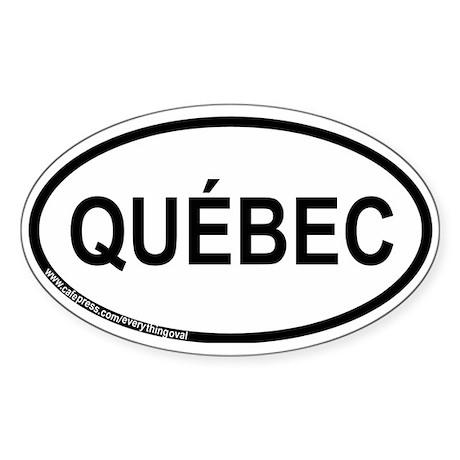 Québec Oval Sticker