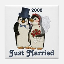 Just Married 2008 Tile Coaster