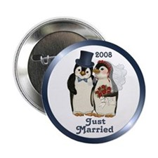 """Just Married 2008 2.25"""" Button"""