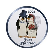 Just Married 2008 Ornament (Round)