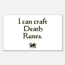 i can craft death runes Rectangle Decal