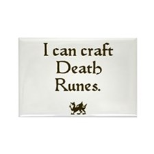 i can craft death runes Rectangle Magnet